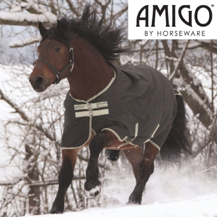 Amigo® XL Turnout 0g Standard Neck Otter & Pea Green